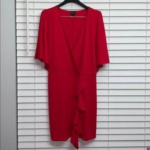 Free press ruffle deep v neck mini dress size L